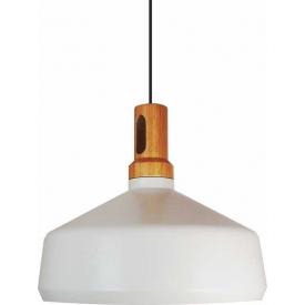 Okrągła lampa wisząca Bolstar 50 w kolorze drewna.