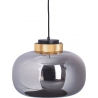 Szklana lampa wisząca Boom 35 LED Step Into Design do salonu. Kolor bursztynowy