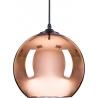 Szklana lampa wisząca Mirror Glow 25 Step Into Design do salonu. Kolor złoty