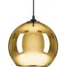 Szklana lampa wisząca Mirror Glow 40 Step Into Design do salonu. Kolor miedziany