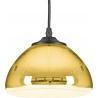Szklana lampa wisząca Victory Glow 17 Step Into Design do salonu. Kolor miedziany
