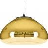 Szklana lampa wisząca Victory Glow 30 Step Into Design do salonu. Kolor miedziany