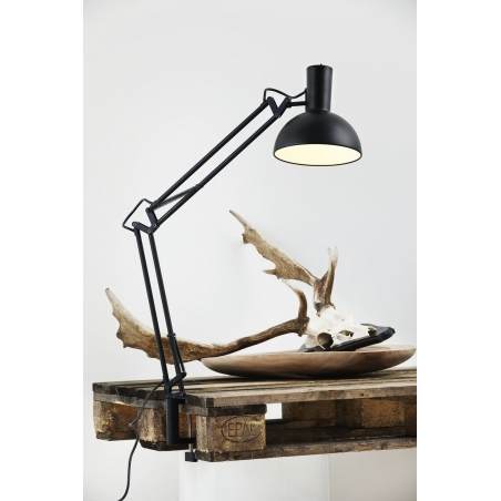 Stylowa Lampa biurkowa przykręcana Arki Czarna DFTP na biurko od BlowUpDesign.pl