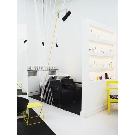 Stylowy Reflektor sufitowy MIB 6 DFTP do salonu. Kolor czarny