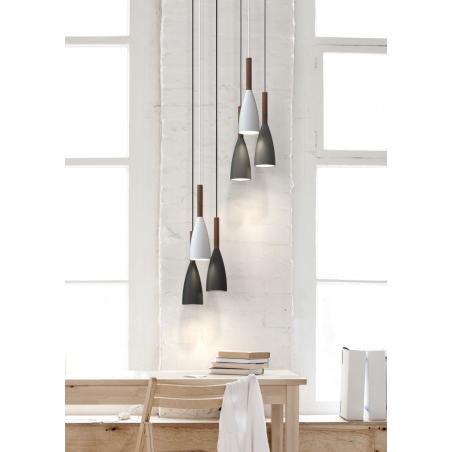 Stylowa Lampa wisząca skandynawska Pure 10 DFTP do salonu. Kolor czarny