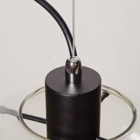 Designerska Lampa wisząca szklana kula Glass Ball X 40 Przeźroczysta do salonu i sypialni.
