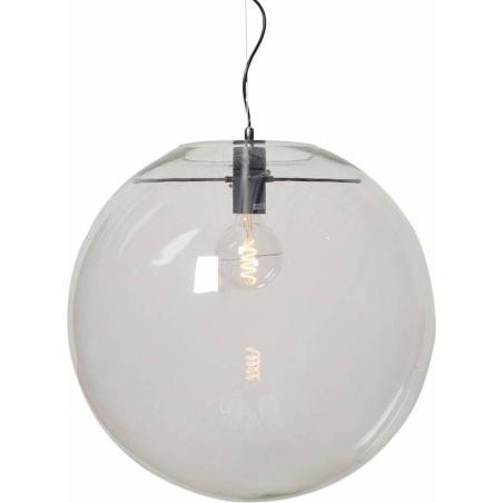 Designerska Lampa wisząca szklana kula Glass Ball X 50 Przeźroczysta do salonu i sypialni.