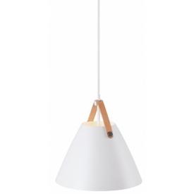 Designerska Lampa stołowa z abażurem Bastia Markslojd do salonu. Kolor biały, Styl retro.