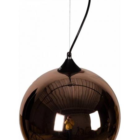 Designerska Lampa wisząca szklana kula MBC X 35 Miedziana do salonu i sypialni.