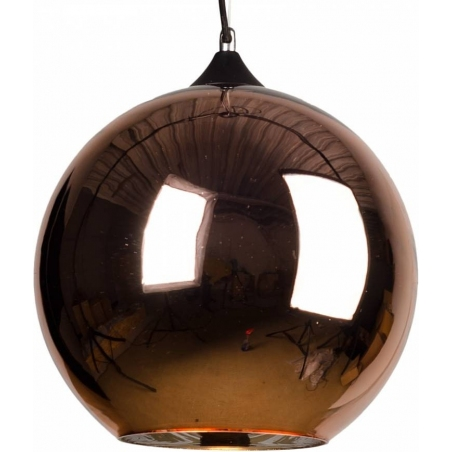 Designerska Lampa wisząca szklana kula MBC X 40 Miedziana do salonu i sypialni.