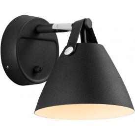 Strap 16 black scandinavian wall lamp DFTP