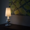Jos 18 white table lamp with shade