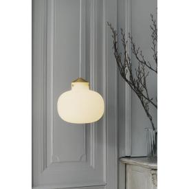 Szklana lampa wisząca Cooper 40 Markslojd do salonu. Kolor czarny, biały, Kształt kulisty i półkulisty, Styl skandynawski.