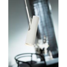 Biała lampa wisząca Kom, oświetlenie przedpokoju