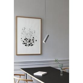 Stylowa Lampa wisząca skandynawska Leonardo 27 Markslojd do salonu. Kolor biały.