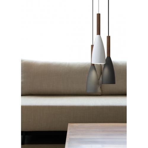 Miedziana lampa wisząca do sypialni Edge Copper