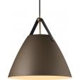 Miedziana lampa stołowa Storm M ze szkła do salonu