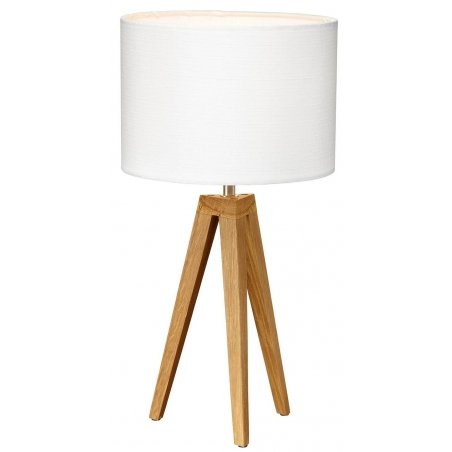 Designerska Lampa stołowa drewniana Kullen 22 Markslojd do salonu. Kolor biały