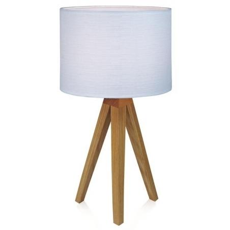 Skandynawska Lampa stołowa drewniana trójnóg Kullen 22 Biała Markslojd do salonu i sypialni.