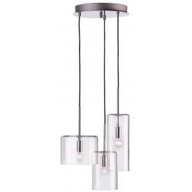 Rockford transparent glass pendant lamp Markslojd