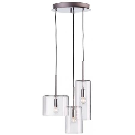 Szklana lampa wisząca Rockford Markslojd do salonu. Kolor przeźroczysty