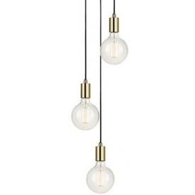 Stylowa Złota lampa sufitowa Sky Gold One Markslojd do salonu o ciekawym kształcie. Styl nowoczesny.
