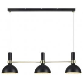 Larry Gold black pendant lamp with 3 lights Markslojd