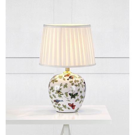 Designerska Lampa stołowa ceramiczna Mansion 31 Markslojd do salonu. Kolor biały