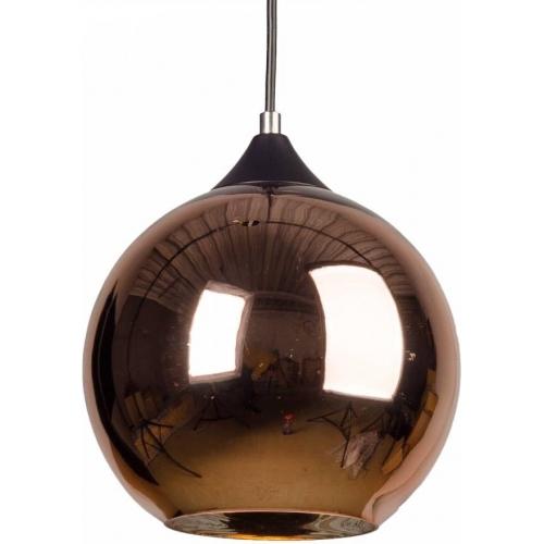 Designerska Lampa wisząca szklana kula MBC X 30 Miedziana do salonu i sypialni.