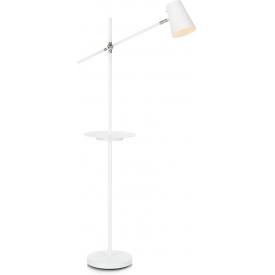Stylowa Lampa podłogowa Linear Markslojd do czytania. Kolor biały