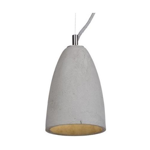 Industrialna Betonowa lampa wisząca Febe 15 do salonu. Kolor: jasno szary