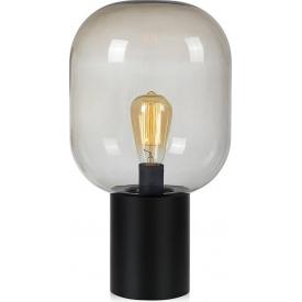 Stylowa Szklana lampa stołowa Brooklyn 44 Markslojd do salonu. Kolor dymiony