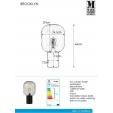 Lampa wisząca Metalwood Small