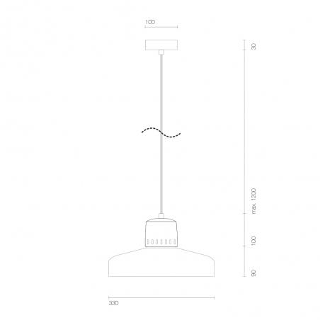 Industrialna Lampa betonowa wisząca Korta 33 Jasnoszara LoftLight do salonu i sypialni.