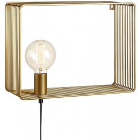 Shelf gold wire wall lamp with switch Markslojd