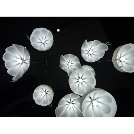Designerska Lampa wisząca Beza 1 39 Ecru LoftLight do salonu i sypialni.