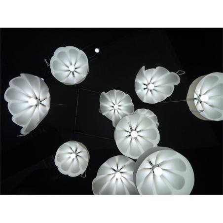 Designerska Lampa LoftLight Beza 2 39 do salonu. Kolor ecru