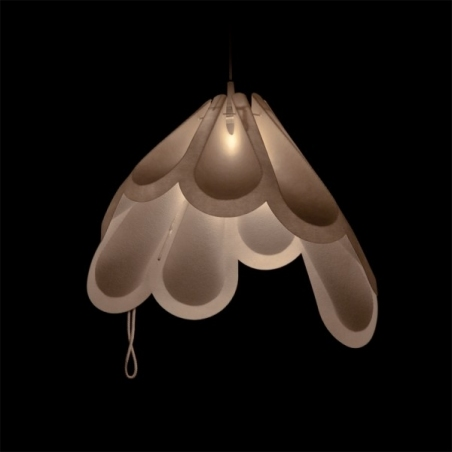 Designerska Lampa wisząca Beza 39 Ecru LoftLight do salonu i sypialni.