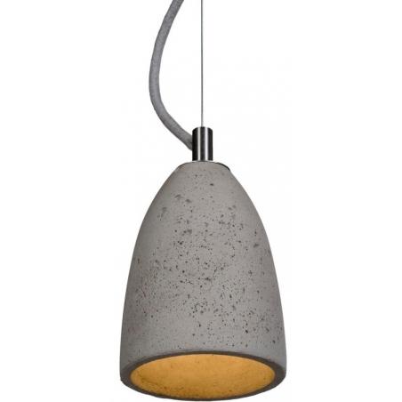 Industrialna Lampa betonowa wisząca Febe 11 Jasnoszara LoftLight do salonu i sypialni.