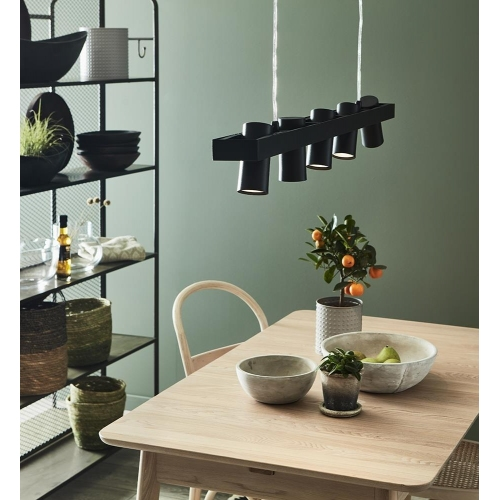 Oris white ceiling lamp for the kitchen
