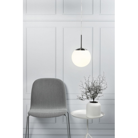 Cafe 15 white glass ball pendant lamp Nordlux