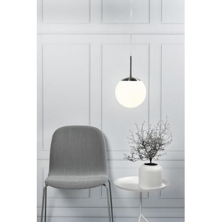 Stylowa Szklana lampa szklana Cafe 20 Nordlux do salonu. Kolor biały