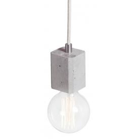 Stylowa Betonowa lampa wisząca Kalla Quadro 7 do salonu. Kolor jasno szary
