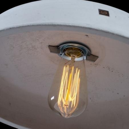Stylowa Betonowa lampa wisząca Industriola 36 do salonu. Kolor jasno szary