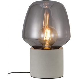 Designerska Lampa stołowa szklana Christina Jasno Szara Nordlux do sypialni.