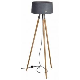 Industrialna Betonowa lampa podłogowa trójnóg Talma 40 Szara LoftLight do salonu i sypialni.