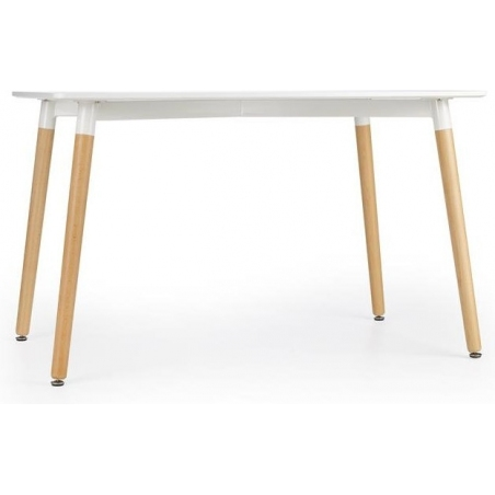 Socrates 120x80 white dining table with wooden legs Halmar
