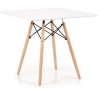 Prometheus 80x80 white square dining table with wooden legs Halmar