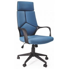 Voyager blue upholstered office armchair Halmar