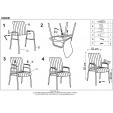 Białe krzesło z tworzywa Daw do jadalni